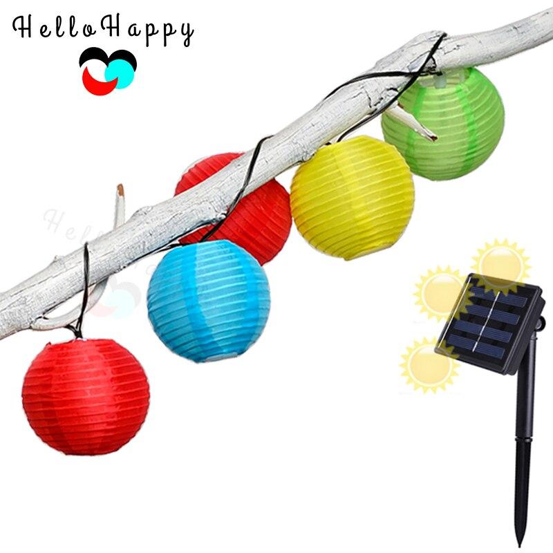Solar Light 20 LEDs Outdoor Lantern String Light Solar Lamp Garden Decoration Lampe Luminaria ...