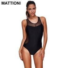 MATTIONI One Piece Swimwear Women Mesh Swimwear Swimsuit Women's Patchwork Bathing Swimming Suit Backless Body Suit Beach wear