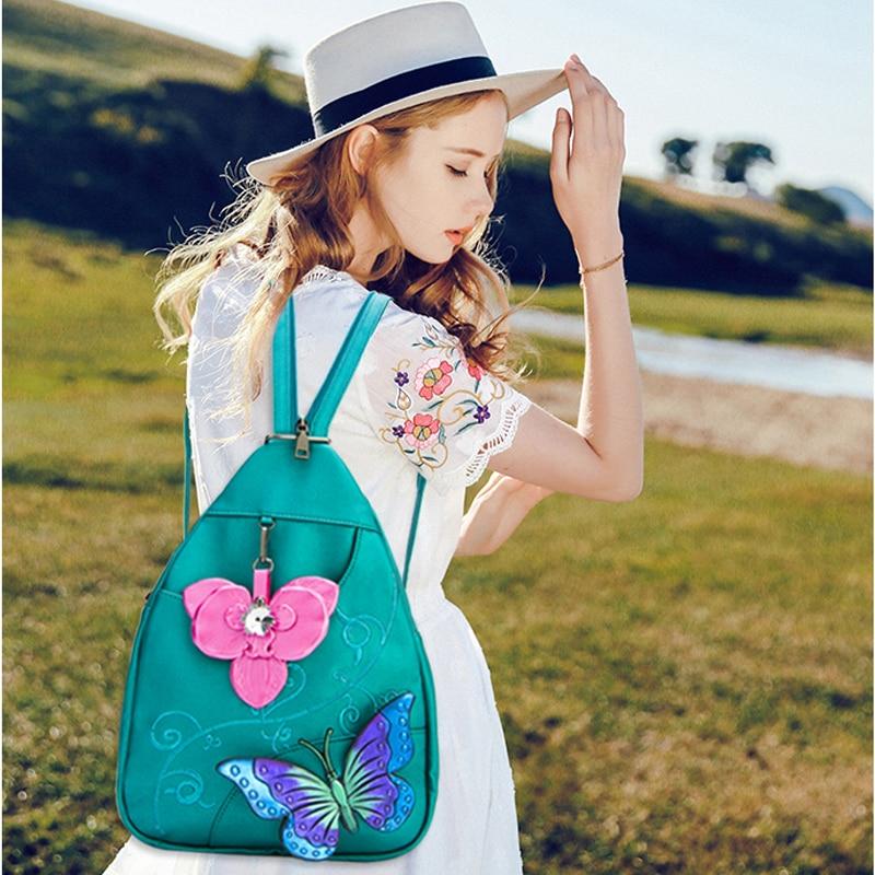 2018new Pu stereo flower medium shoulder bag цена