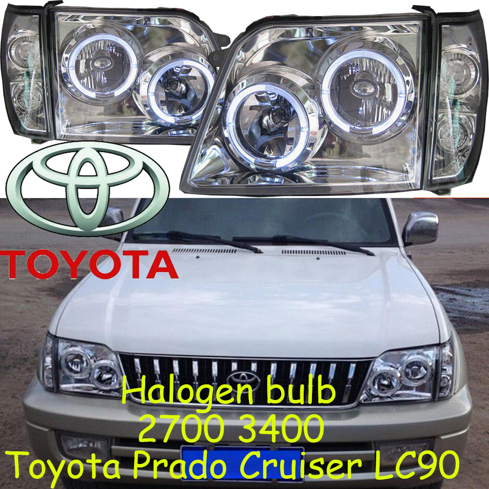 LC90 2700 3400,Cruiser prado headlight,Halogen,Free ship!prado taillight,Tundra,Innova,supra,sienna, Cruiser prado head lamp