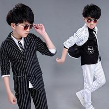 New England boy suit, autumn wear striped Mini suit, childre