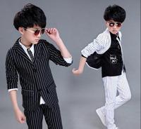 New England boy suit, autumn wear striped Mini suit, children's two piece children's wear.boys clothing