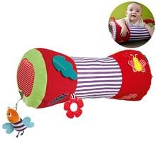 Детский валик для ползания, мягкая подушка для катания, детские игрушки для фитнеса, спортивные мягкие плюшевые игрушки, музыкальный Прорезыватель#20