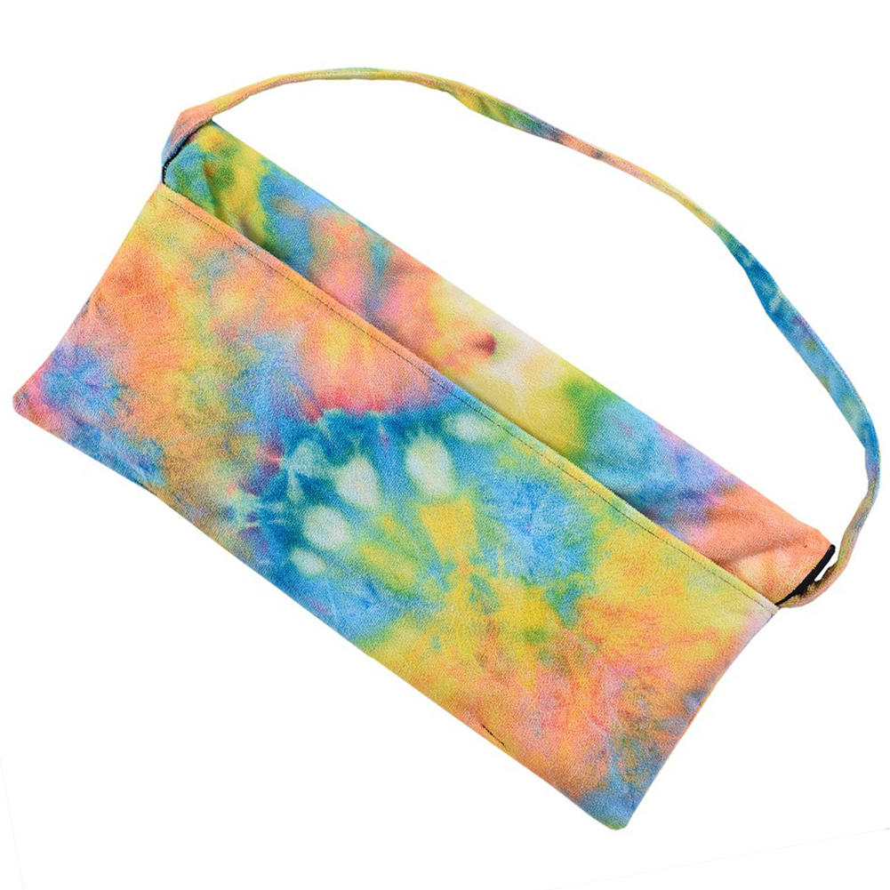 Portable Lounge Chair Cover Patio Pocket Outdoor Foldable Tie Dyeing Pool Bath Sun Beach Towels Bag Microfiber-in Sun Loungers from Furniture