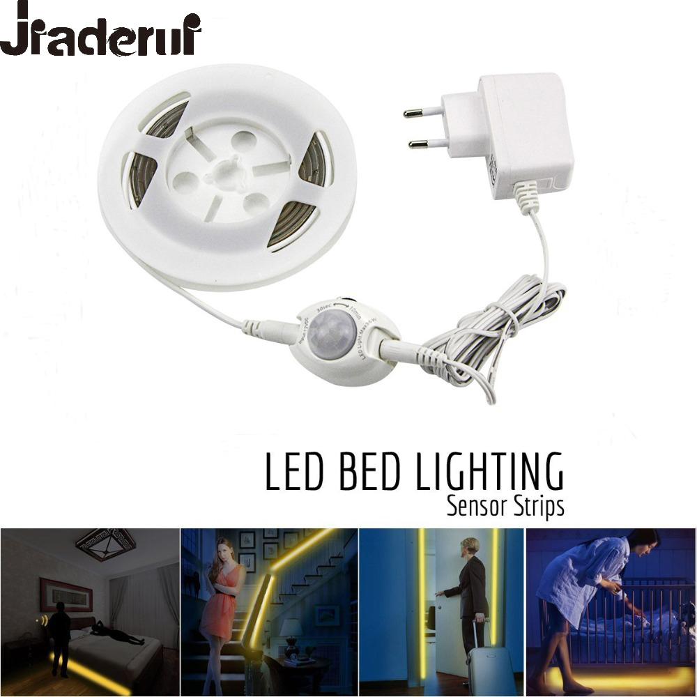 Jiaderui Motion Activated Bed Light 1.2M Flexible LED Strips Motion Sensor Night Light Kit for Bed Hallways Cabinet Auto On/Off motion activated bed light flexible led strip motion sensor night light kit for bed hallways stairs under cabinet baby room door