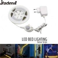 Jiaderui Motion Activated Bed Light 1 2M Flexible LED Strips Motion Sensor Night Light Kit For