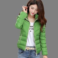 2017 Winter Hot sale Woman Hooded Down jacket  Warm Thick Coat Slim Thin Cotton jacket Large size High-quality Cotton coat  AB72