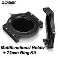 "ZOMEI Filtro Holder + 72-72mm Anillo Adaptador para Cokin Z-pro Lee Hitech Tiffen Kood Singh-Ray 4x5 ""4x5.65"" 4x6 ""100x100 100x150mm"