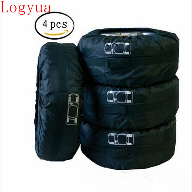 Black Car 13-16'' ,17-20'' Spare Tire Tyre Wheel Cover Bag With Carrying Handles Tote Car Wheel Protector Storage 100% Guarantee