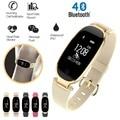 S3 S4 Bluetooth Wasserdichte Dame Smart Uhr Mode Frauen Damen Herz Rate Monitor Fitness Tracker S3 uhren für Android IOS X