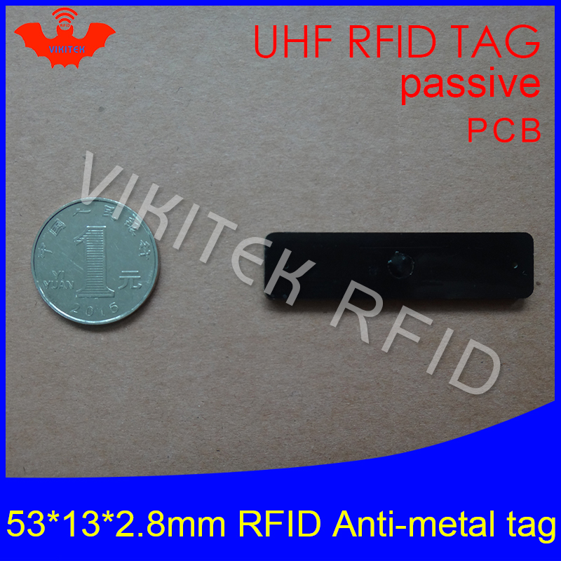 UHF RFID metal tag 915mhz 868mhz Alien Higgs3 EPCC1G2 6C 53*13*2.8mm fixed assets management PCB smart card passive RFID tags 1000pcs long range rfid plastic seal tag alien h3 used for waste bin management and gas jar management