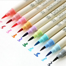 10 Colors Soft Head Watercolor Pen Set Cute Colorful Cartoon Pen Brush Pen for Art Painting Drawing Student Gift School Supplies faber castell 30colors cute creative colorful crayons connector watercolor pen set for children drawing art stationery supplies