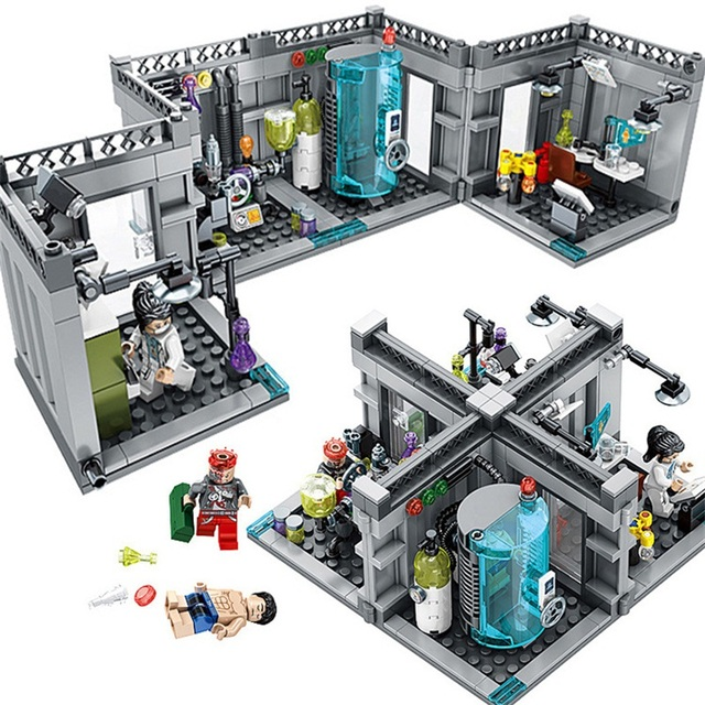 367pcs Buidling Blocks City Police Biochemical Lab Series Bricks Educational Toys Compatible with Legoed Technic Classic Toys