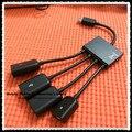 4 en 1 micro usb host otg hub cable de carga para samsung galaxy s3 s4 s5 galaxy note 2 3 4 xperia z1 z2 z3 compact nexus 4 5 6