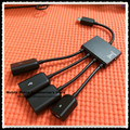 4 in 1 Micro Usb OTG Hub Host Charging Cable For Samsung Galaxy S3 S4 S5 Galaxy Note 2 3 4 Xperia Z1 Z2 Z3 Compact Nexus 4 5 6
