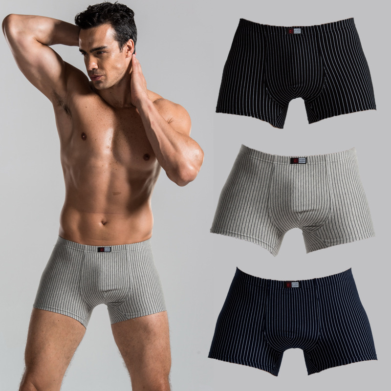 da7d14525 Hot Cheap New Brand Men's Boxer Shorts Cotton Men Underwear Sexy Men Boxer  Popular Male Panties 3 Colors Plus Size Panties-in Boxers from Underwear ...