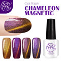 2016 Hot Sale Magnet Cat Eyes Color Change Nail Gel Polish Chameleon Gel Nail Polish UV Gel Semi Permanent Gel Varnish Gelpolish