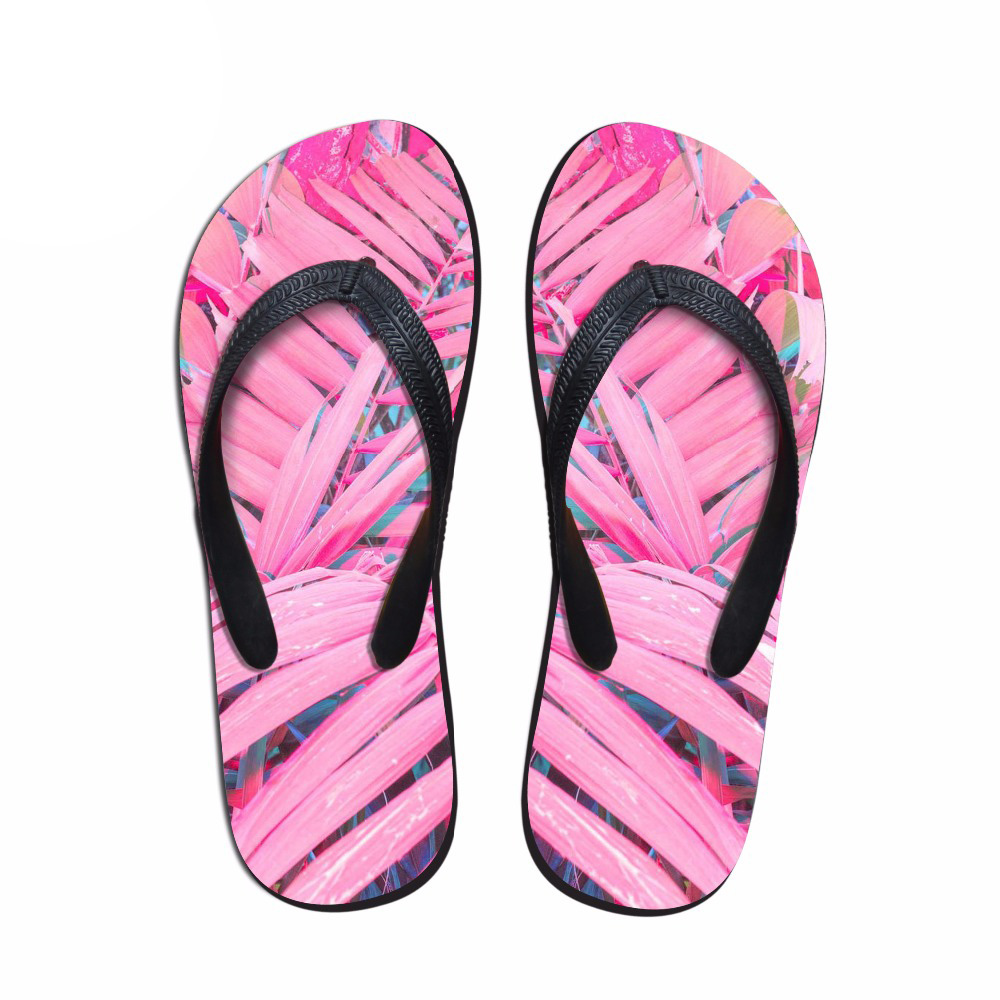 NOISYDESIGNS 3D Palm Trees Printed men House Flip Flops Summer Slippers Flats oumo Casual male Beach Flip Flops Shoes