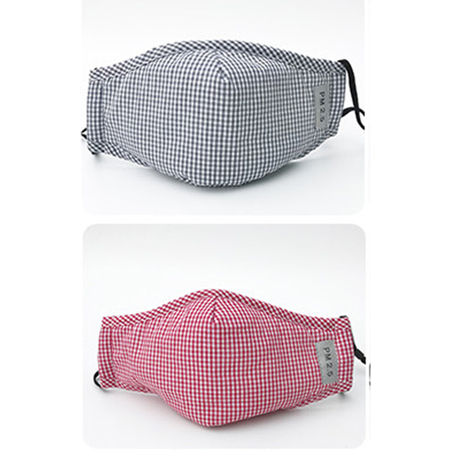 New Cotton PM2.5 Washable Mouth Mask Anti Haze Dust Mask Nose Filter Windproof Face Muffle Bacteria Flu Fabric Cloth Respirator 2