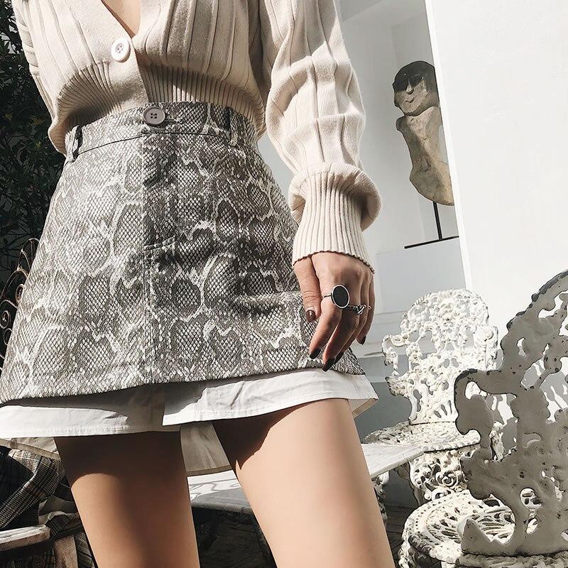 Nueva Casual Rodilla Encima Botón Dll2324 Corea Vestido Verano La Primavera xitao See Falda Picture Leopardo Mujer Por De Moda 2019 dnRqPP4