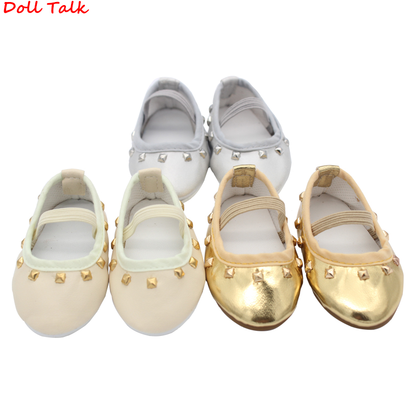 Punk Style Rivet Shoes For Dolls Personality Fashion PU Leather Doll Shoes Fit 18 Inch EXO Dolls BJD Accessories Girl Dolls