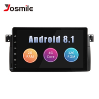 Josmile Car Multimedia Player 1 Din Android 8.1 For BMW E46 M3 Rover 75 Coupe Navigation GPS DVD Car Radio 318/320/325/330/335