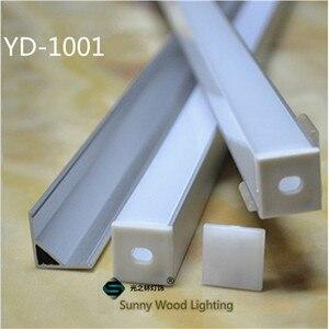 Image 3 - 10 40 adet 20 80m 80 inç, 2 metre/pc led alüminyum profil, 90 derece köşe profil 10mm PCB kartı led çubuk ışık