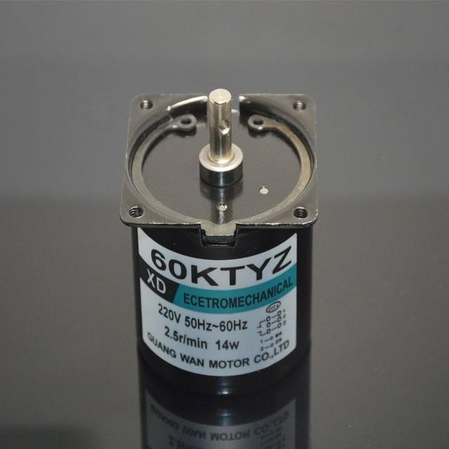 3 unids 60 60KTYZ AC 220 V 50-60Hz 2.5-110 rpm/min motor síncrono de imanes permanentes 14 W bidireccional controlable micro motor de baja velocidad