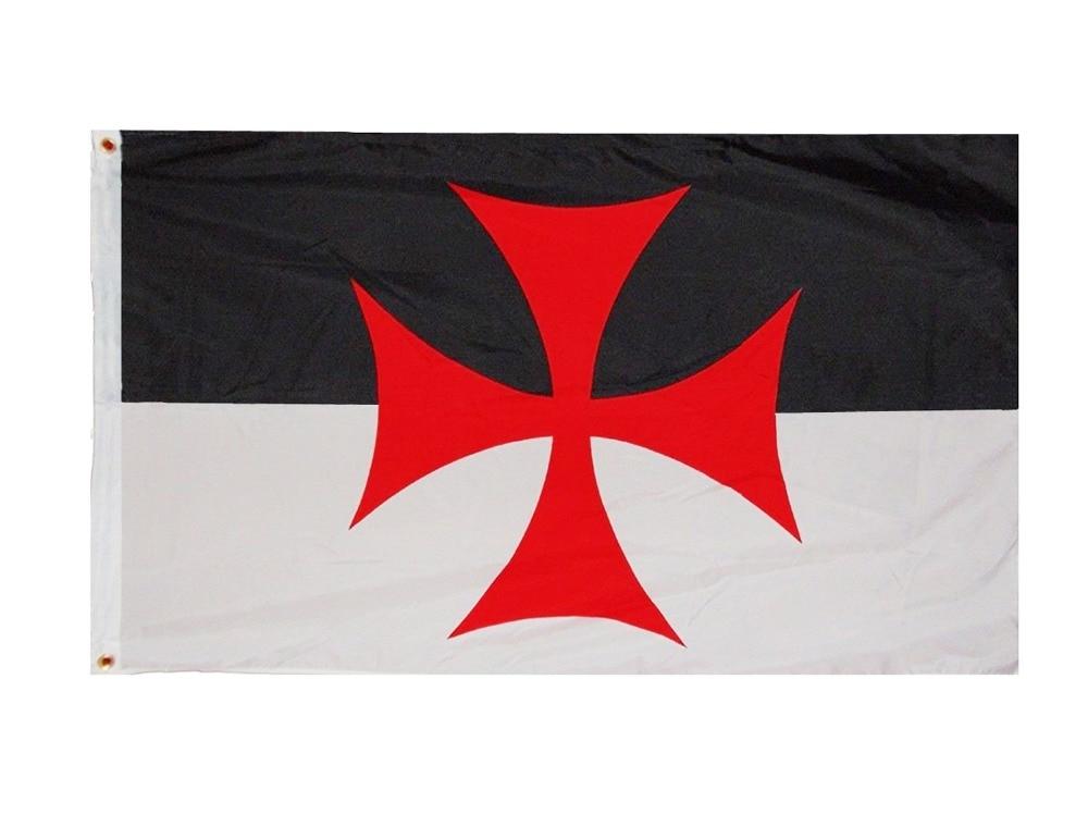 Johnin 3x5 Fts Roman Catholic Church Banner Knights Templar Flag