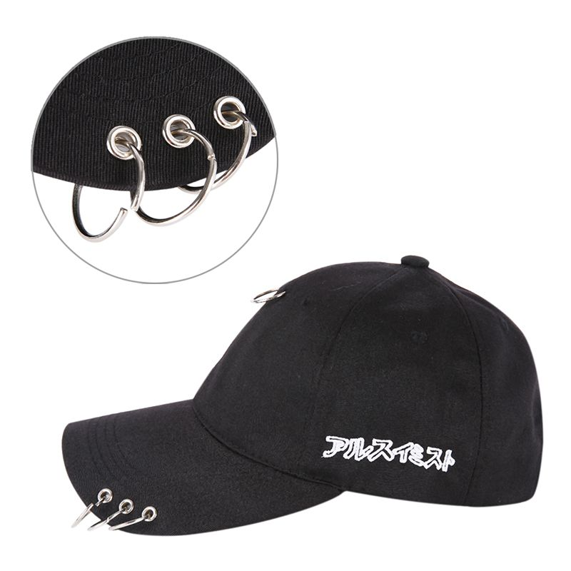 GD Same Style With A Ring Cap Clip Ring Embroidery Cotton Unisex Snapback Hip Hop Hat Baseball Baseball Cap
