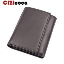 Brand Men Wallet Genuine Leather Casual Credit Card Holder Large Capacity Card Wallet Short Hasp Men Women Purse
