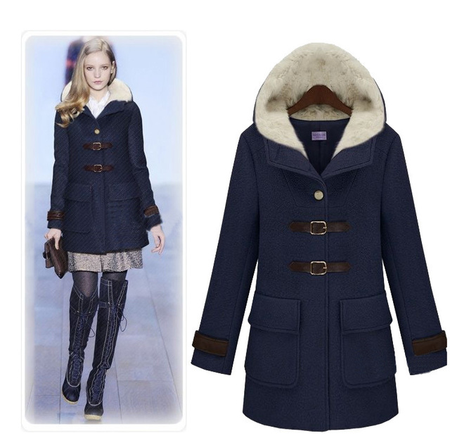 2012 women winter supper warm wool coat Fashion British ...