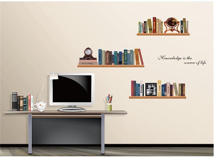 Retro Slaapkamer Meubels : Retro slaapkamer interieur muur plank stickers badkamer spiegel