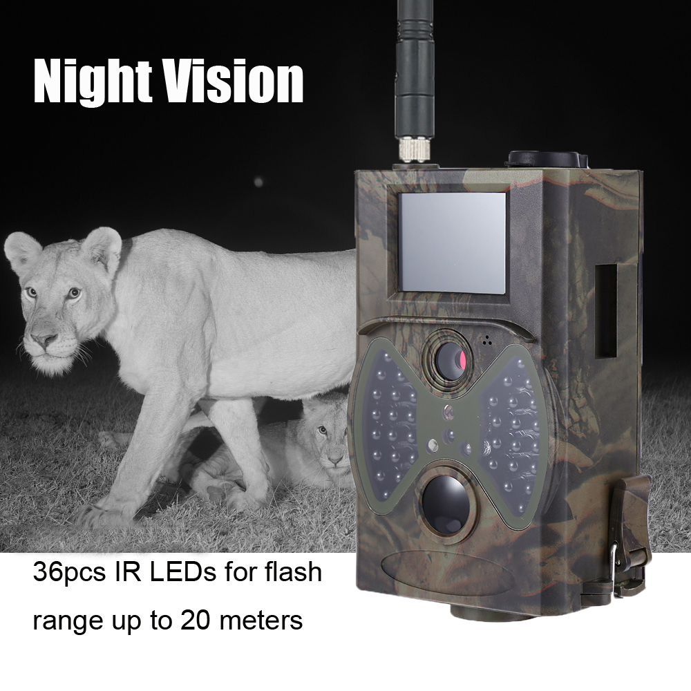 HC300M Hunting Camera Night Vision Infrared GSM MMS SMS EMAIL Deer Trail Cameras hc300m 940nm infrared night vision digital trail camera with remote control 2g mms gprs gsm sms control camera for hunting