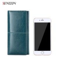New Arrival Long Wallet Split Leather Wallet Women Zipper Women Purse Button Women Wallets Card Holder