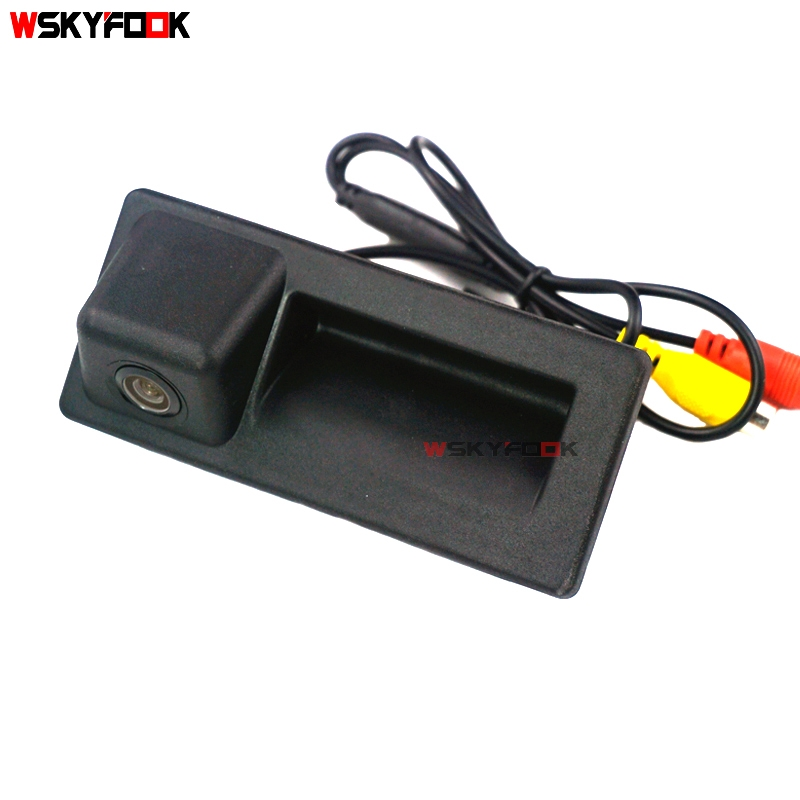 CCD HD car rear reverse camera for VW Teramont C TREK Touran L Tiguan L Superb new Octavia Audi A4L 2018 trunk handle camera