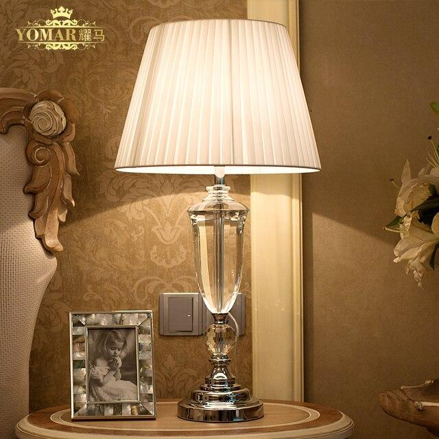 lamparas de mesa creativa europa breve de cristal lmpara de noche dormitorio iluminacin moderna lmpara de