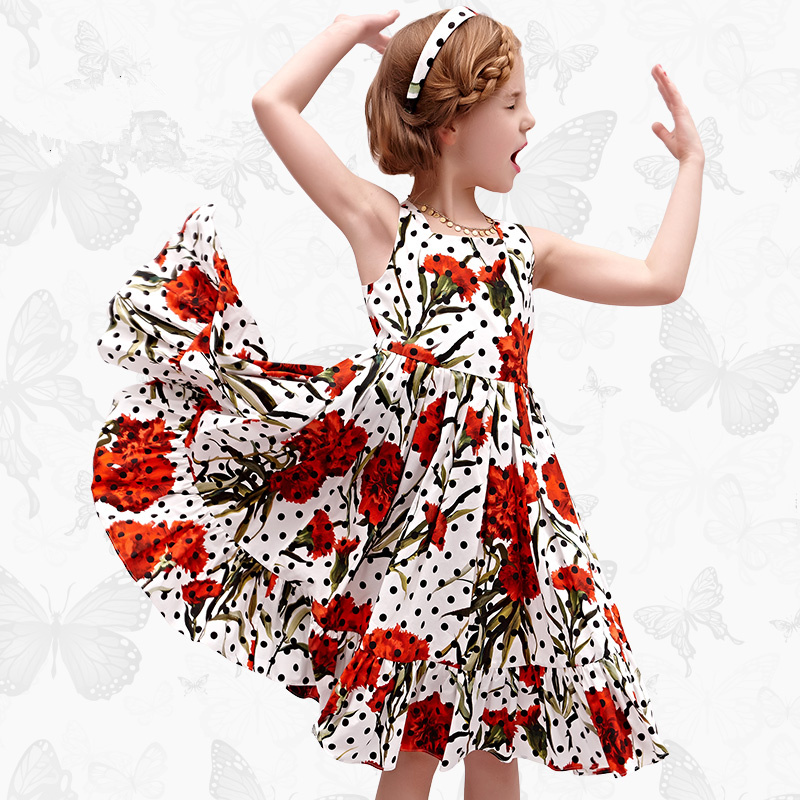 W.L.Monsoon Dresses for Party and Wedding 2017 Brand Summer Dress Princess Costume Rose Bianco Vestido Menina Kids Dress женское платье 2015 desigual vestido summer dress