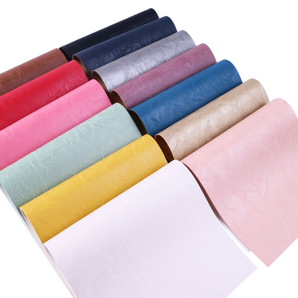 Synthetic Leather Apparel Sewing & Fabric Frugal New 20*34cm Solid Plain Artificial Synthetic Leather Patchwork For Hair Bow Bags Phone Cover Diy Projects,1yc5334