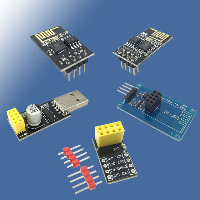 USB to ESP8266 WIFI module ESP-01 ESP-01S Remote Serial Port WIFI Sensor Transceiver Wireless Board V1.0 Breakout PCB Adapter