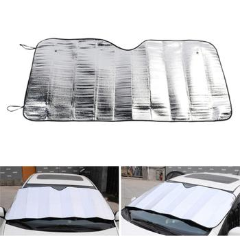 130x60cm Foil Car Window Cover Auto Windshield Heat Sun Shade Visor Cover Front Sunshade UV Protect Film Foam image