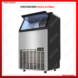 HZB50/60/80 HOT 55/65/80kgs/24H Automatic ice Maker, Household ice cube making machine for commercial use 220V/110V