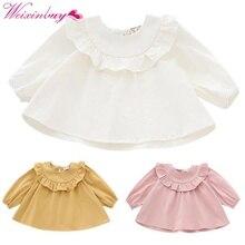 """Весна/осень рубашка для малышей, блузы и рубашки для девочек с длинными рукавами Блузка для девочек воротник """"Лотос"""" блузка для девочек"""