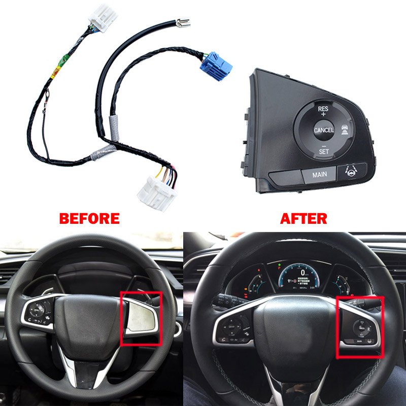 Cruise Control Button Car Steering-Wheel Switch Auto Refit Part For Honda Civic 2016 2017 36770-TBA-A21 77901-TET-Q20  цена и фото