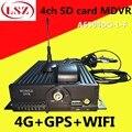 Оптовая продажа  4G Двойная sd-карта  WIFI + GPS система позиционирования  4-канальный Автомобильный видеорегистратор  автобус  грузовик  универса...