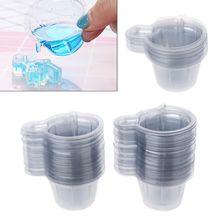 100 шт 40 мл пластиковые одноразовые чашки Диспенсер Для DIY Эпоксидной Создание украшений из каучука JUL3