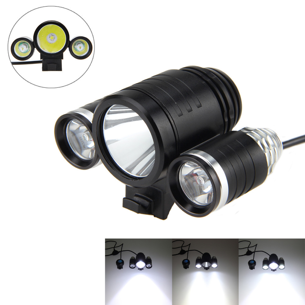 6000lm XML L2 + R5 LED Head Bicycle Bike Headlamp Flashlight Light Cycling Accessory Battery needs to be purchased separately jetbeam bc40gt flashlight searchlight 2750lm xhp50 led cycling bicycle bike front head light outdoor camping accessory m25