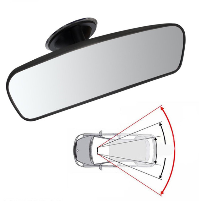 Hot Sale Car Rear Mirror Interior Rear View Mirror With PVC Sucker Wide-angle Rearview Mirror Auto Convex Curve Car-styling