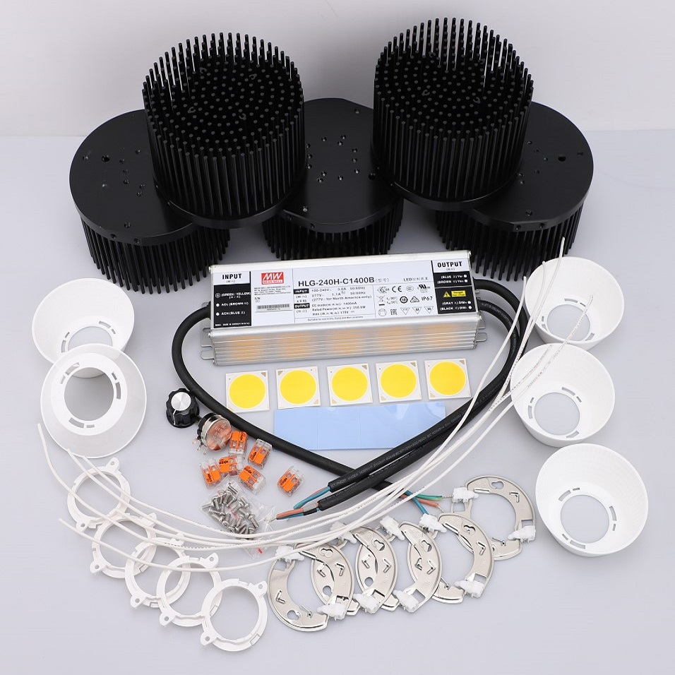 250w CREE Cob CXB3590 led grow lights Kit reflector lens 3000K 3500K 5000K with Meanwell dimmable