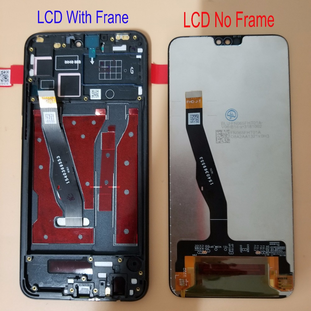 With Frame Display 6 5 For Huawei Honor 8X JSN L21 LCD Display Touch Screen Digitizer